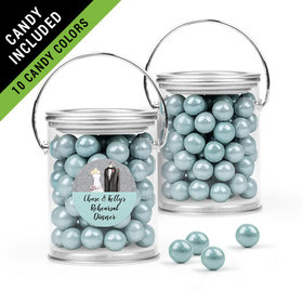 Personalized Rehearsal Dinner Favor Assembled Paint Can Filled with Sixlets