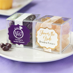 Personalized Bridal Shower JUST CANDY® favor cube with Jelly Belly Jelly Beans