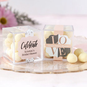 Personalized Bridal Shower JUST CANDY® favor cube with Premium Sugar Cookie Bites