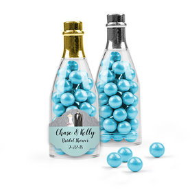 Personalized Bridal Shower Favor Assembled Champagne Bottle Filled with Sixlets