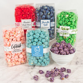 Personalized Bridal Shower Candy Coated Popcorn 8 oz Bags