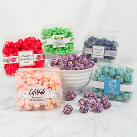 Personalized Bridal Shower Candy Coated Popcorn 3.5 oz Bags