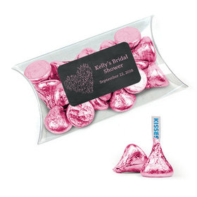 Personalized Bridal Shower Favor Assembled Pillow Box Filled with Hershey's Kisses