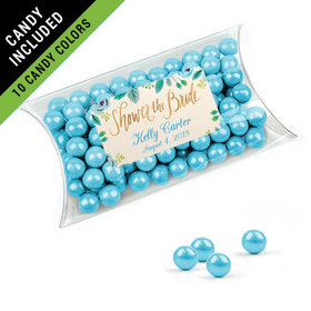 Personalized Bridal Shower Favor Assembled Pillow Box Filled with Sixlets