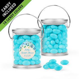 Personalized Bridal Shower Favor Assembled Paint Can Filled with Just Candy Jelly Beans