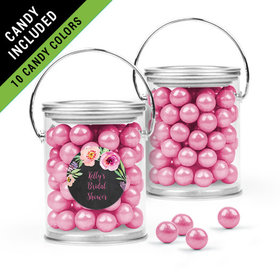 Personalized Bridal Shower Favor Assembled Paint Can Filled with Sixlets