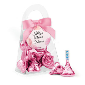 Personalized Bridal Shower Favor Assembled Purse Filled with Hershey's Kisses