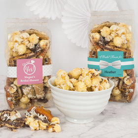 Personalized Bridal Shower Trendy Trash Popcorn 8 oz Bags