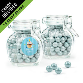 Personalized Kids Birthday Favor Assembled Swing Top Jar Filled with Sixlets