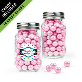 Personalized Kids Birthday Favor Assembled Mini Mason Jar Filled with Sixlets