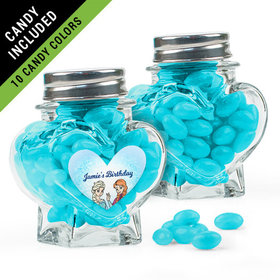 Personalized Kids Birthday Favor Assembled Heart Jar Filled with Just Candy Jelly Beans