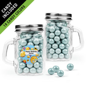 Personalized Kids Birthday Favor Assembled Mini Mason Mug Filled with Sixlets